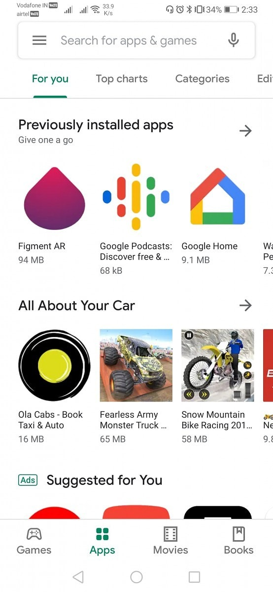 Google Play Store Material Design Home Changes 3