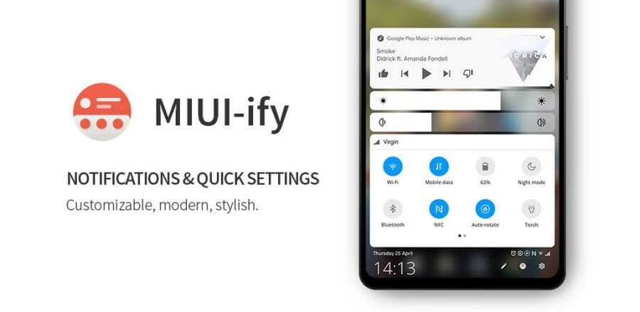 MIUI 10 Style Quick Settings And Notification Panel
