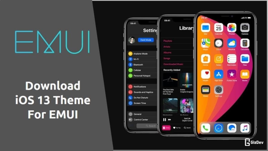 Download iOS 13 Theme For Huawei and Honor Devices