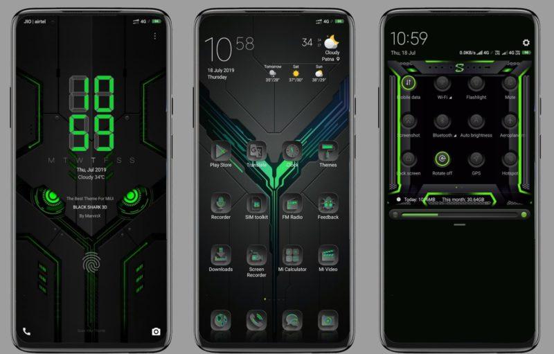 Black Shark 3D MIUI Theme Screens e1563530834169