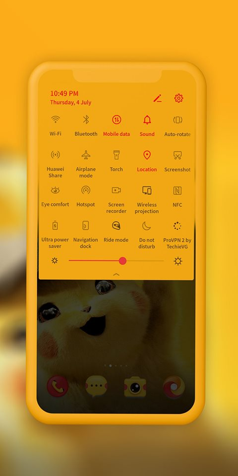 Detective Pikachu EMUI Theme Screens 5
