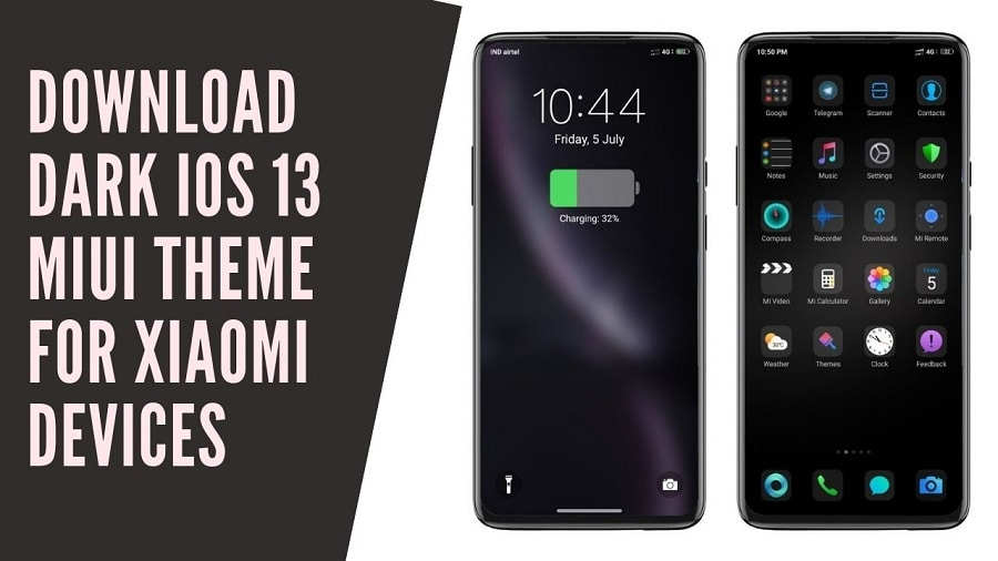 Download Dark iOS 13 MIUI Theme For Xiaomi Devices
