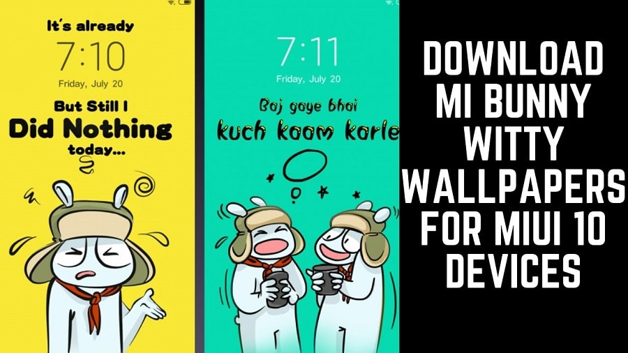 Download MI Bunny Witty Wallpapers For MIUI 10 Devices
