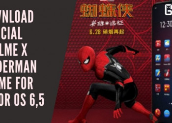 Download Official Realme X Spiderman Theme For Color OS 6,5