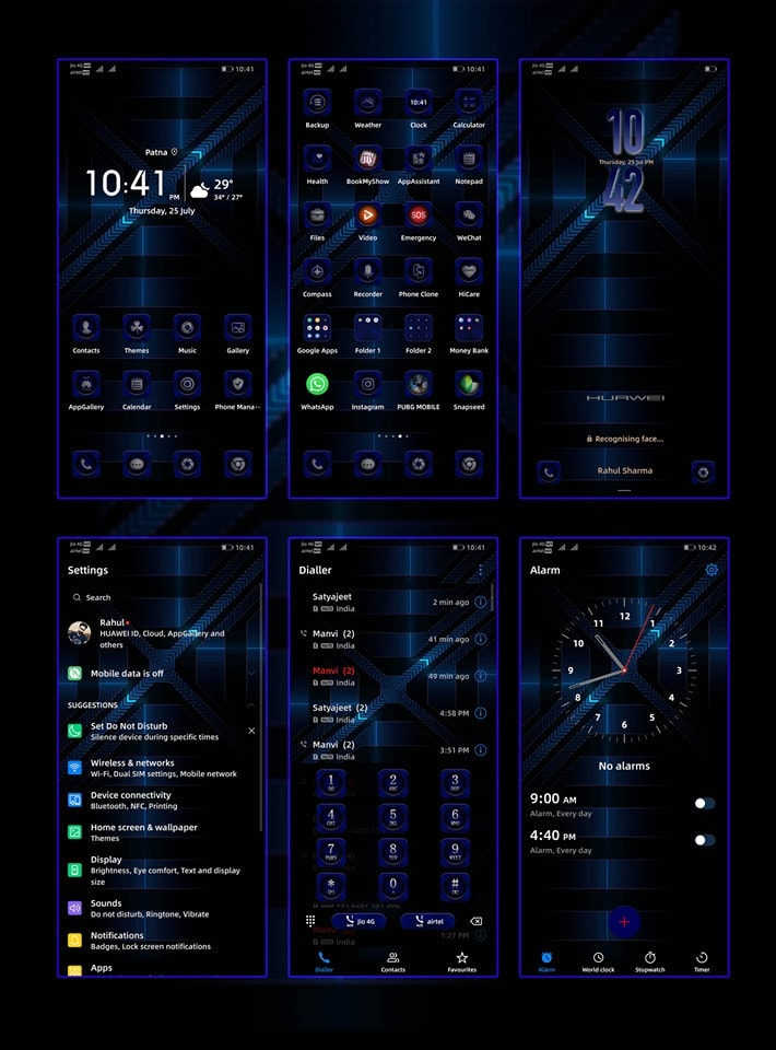 Honor 9X Pro Stock Themes Screens 1