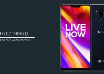 LG G7 ThinQ Service codes