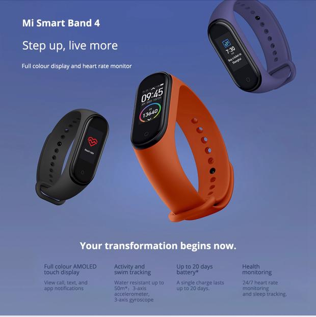 Xiaomi Mi Band 4 Smart Bracelet Bluetooth 5 0 NFC Black 20190618093120953