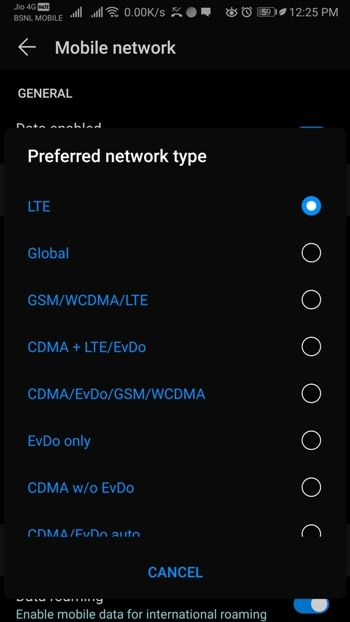 How to Enable LTE only mode