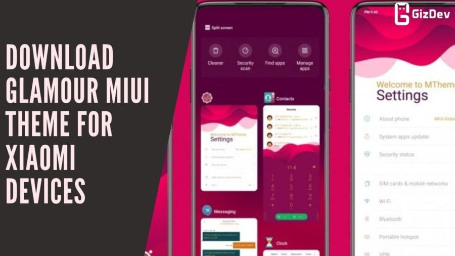 Download Glamour MIUI Theme For Xiaomi Devices