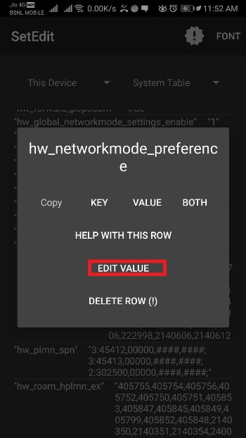 Enable 4G LTE only Network Mode in Huawei 4