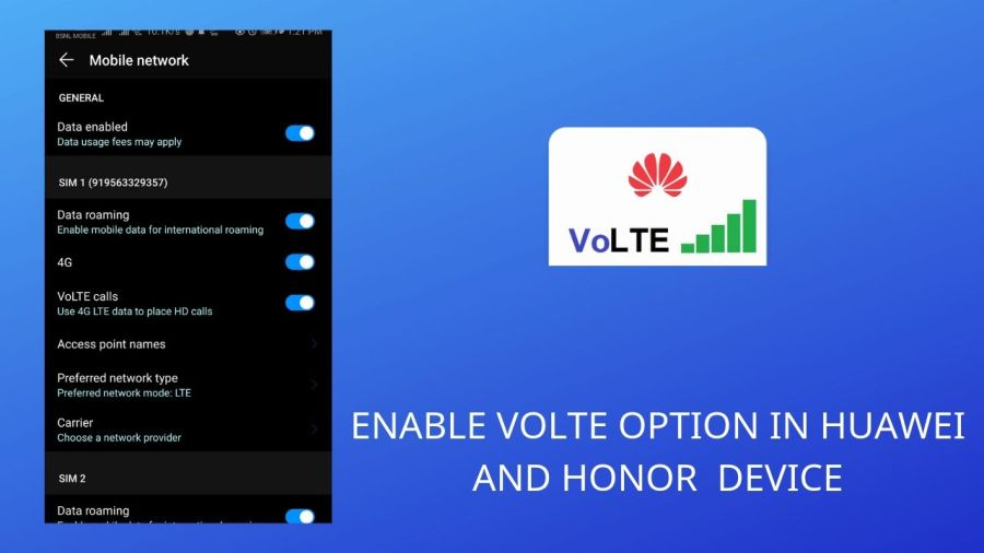 How to Enable VoLTE Option in Huawei & Honor