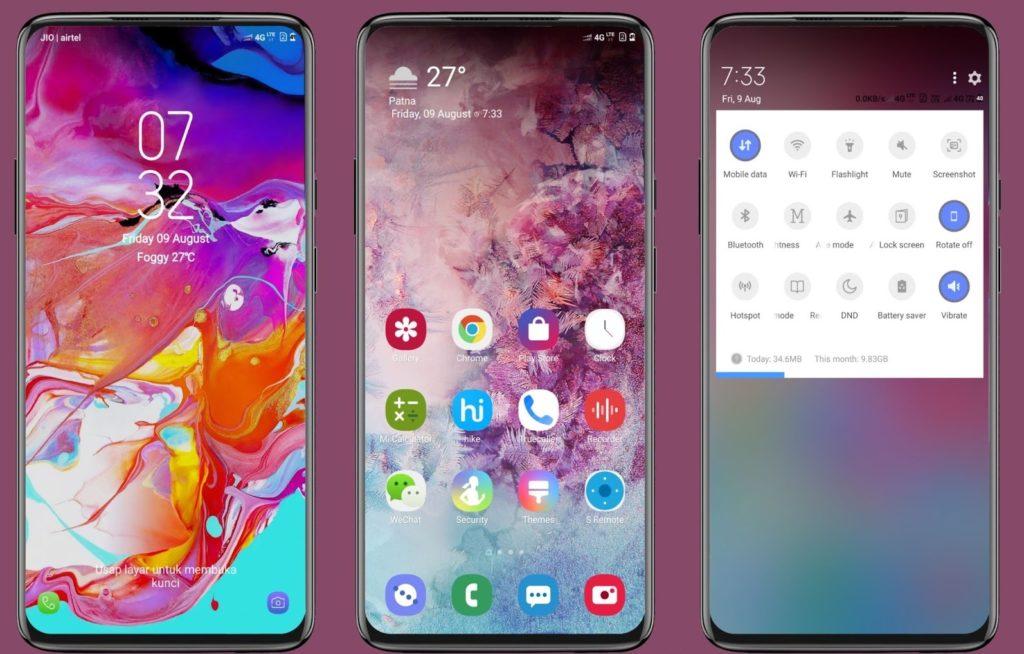 Galaxy A70 MIUI Theme Screens 1024x654