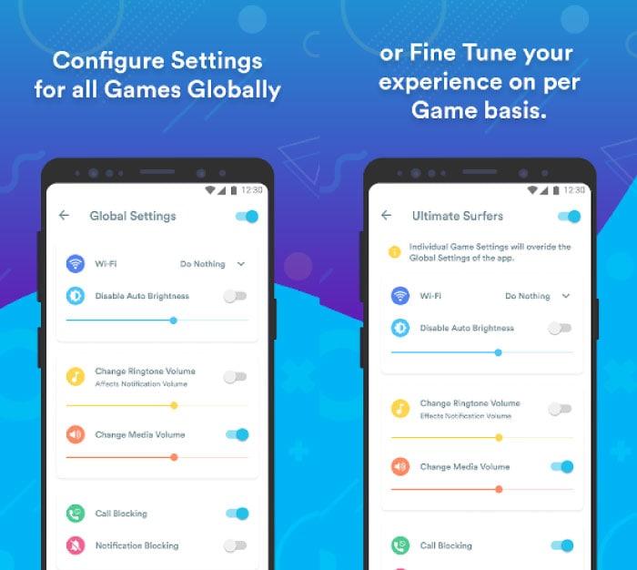 Gaming Mode APP Screens