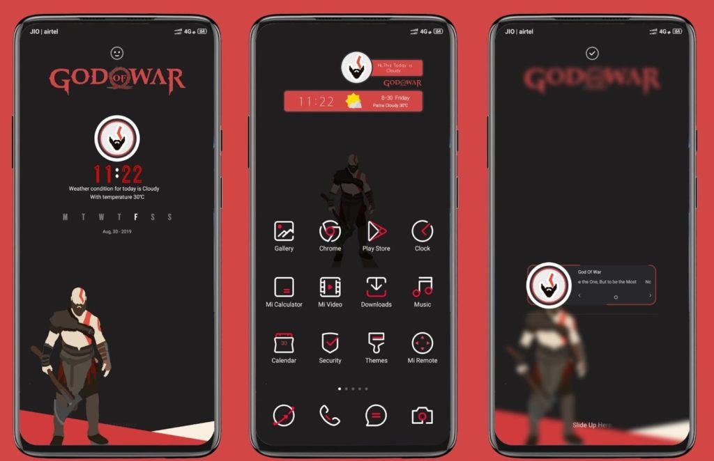 God Of War MIUI Theme Screens 1024x662