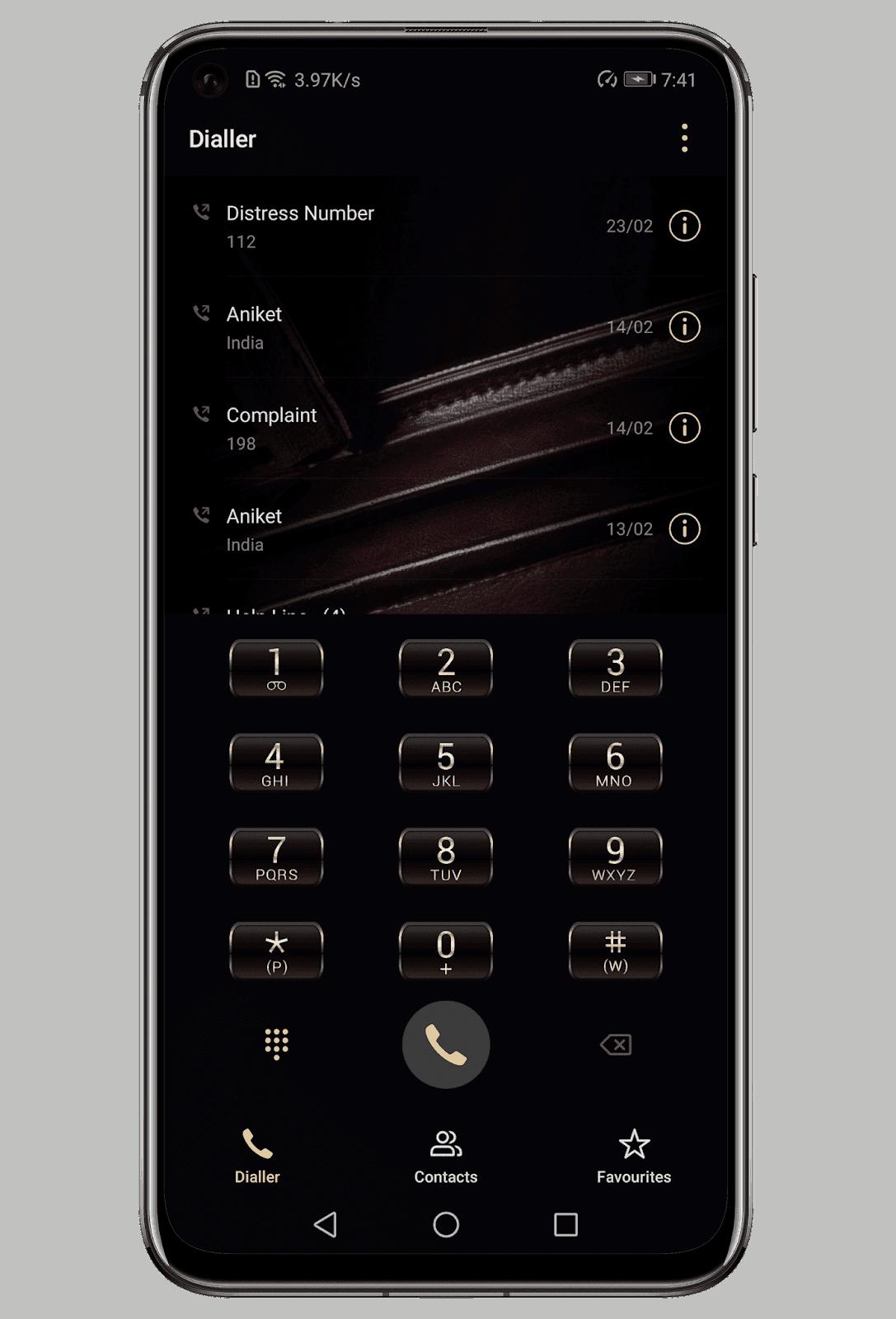 Leather EMUI Theme Screens 1