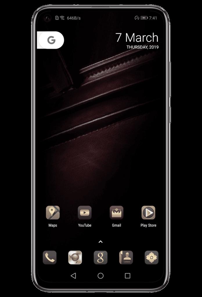 Leather EMUI Theme Screens 2 696x1024