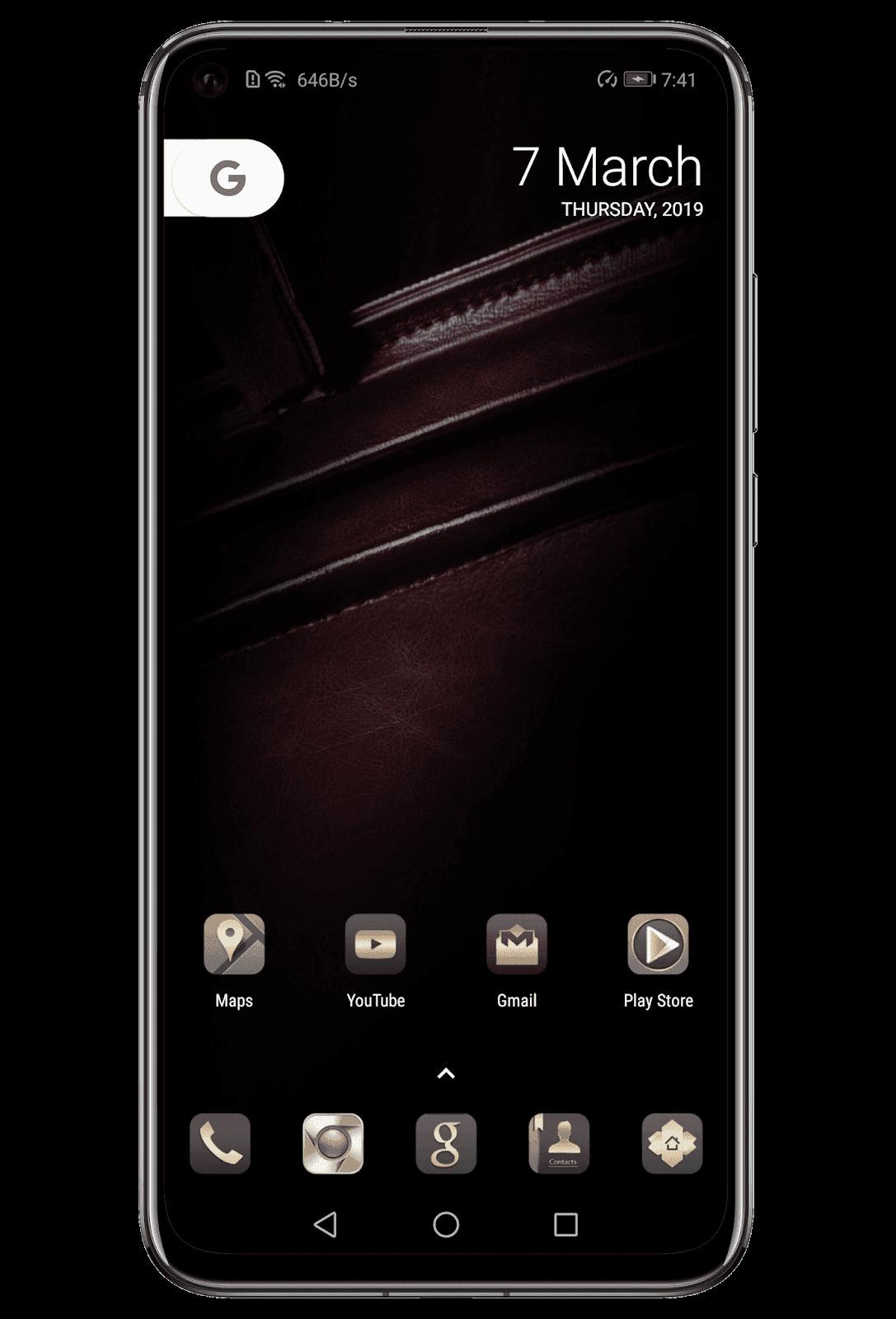 Leather EMUI Theme Screens 2