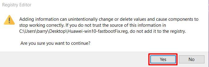 HUAWEI Windows 10 Fastboot Fix 2