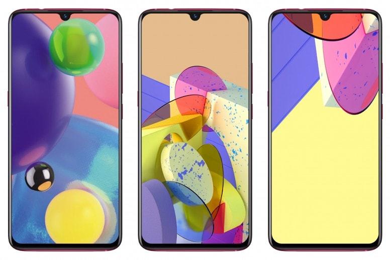 Samsung Galaxy A70S Stock Walls Screens