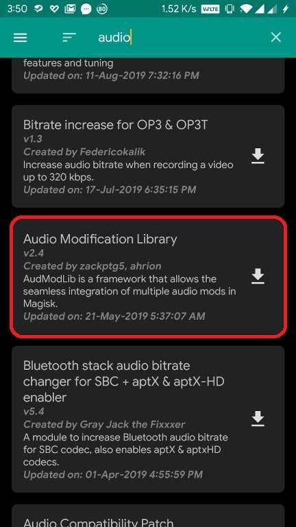 Audio Modification Library