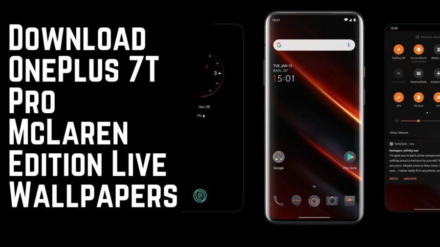 Download OnePlus 7T Pro McLaren Edition Live Wallpapers