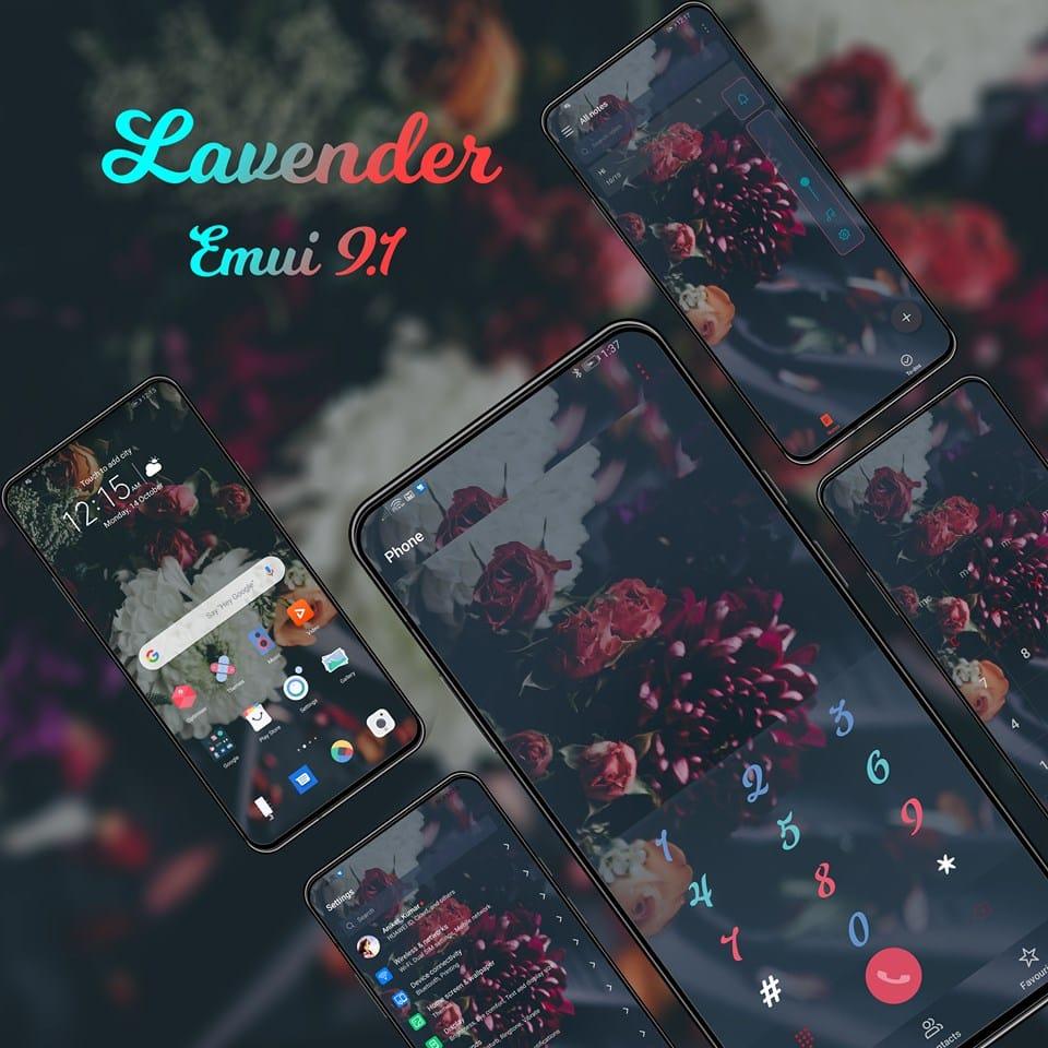 Lavender EMUI Themes Screens