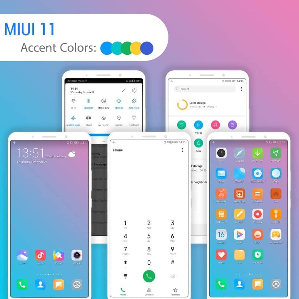 MIUI 11 EMUI Theme Screens 1