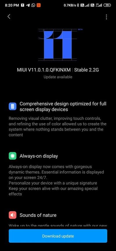 MIUI 11 For Redmi K20 Pro Screens