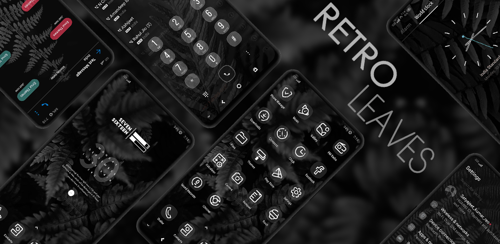 Retro Dark EMUI Theme Screens 1024x500