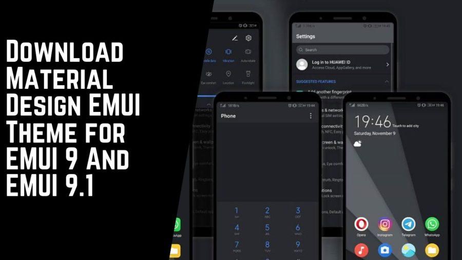 Download Material Design EMUI Theme for EMUI 9 And EMUI 9.1