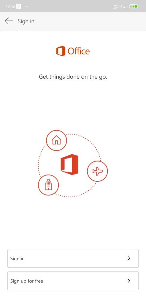 Microsoft Office BETA APK Screens 1 492x1024