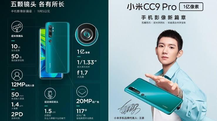 Xiaomi MI CC9 Pro Cameras 1