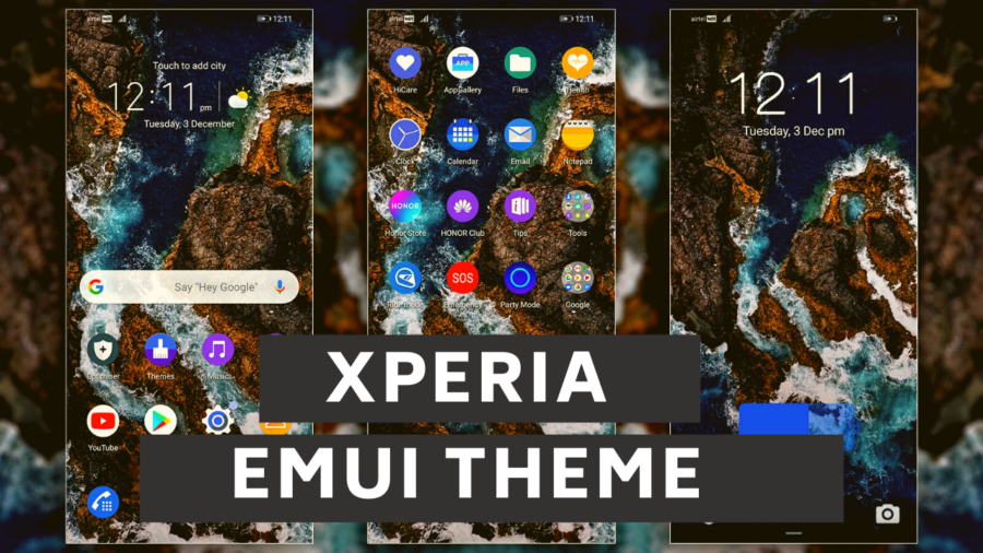 Download Latest Xperia EMUI Theme for EMUI 9.110 Devices