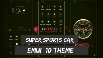Download Super Sports Car EMUI Theme for EMUI 10 Devices