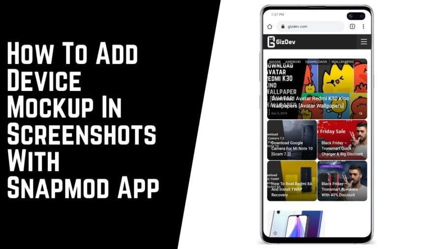 How To Add Device Mockup In Screenshots With Snapmod App