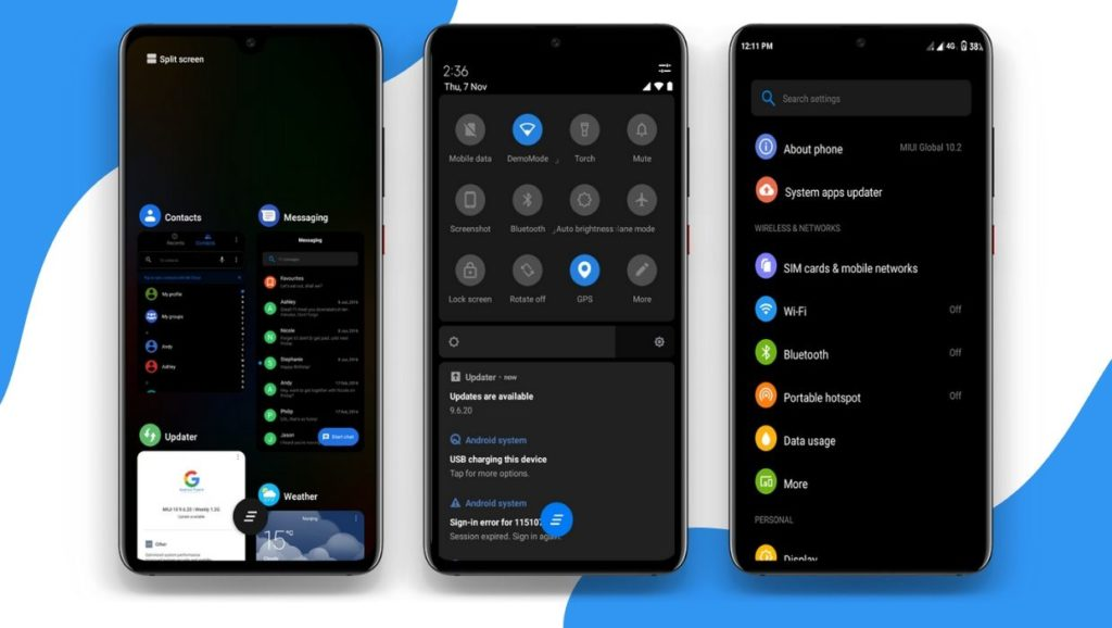 Pixel 4 MIUI 11 Theme Screens 1 1024x578