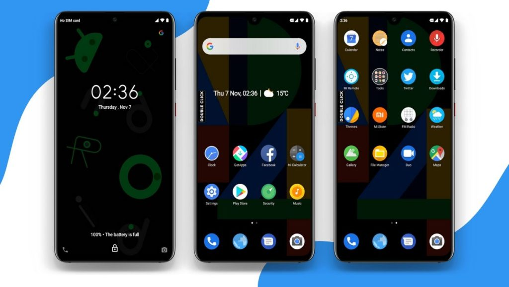 Pixel 4 MIUI 11 Theme Screens 2 1024x578