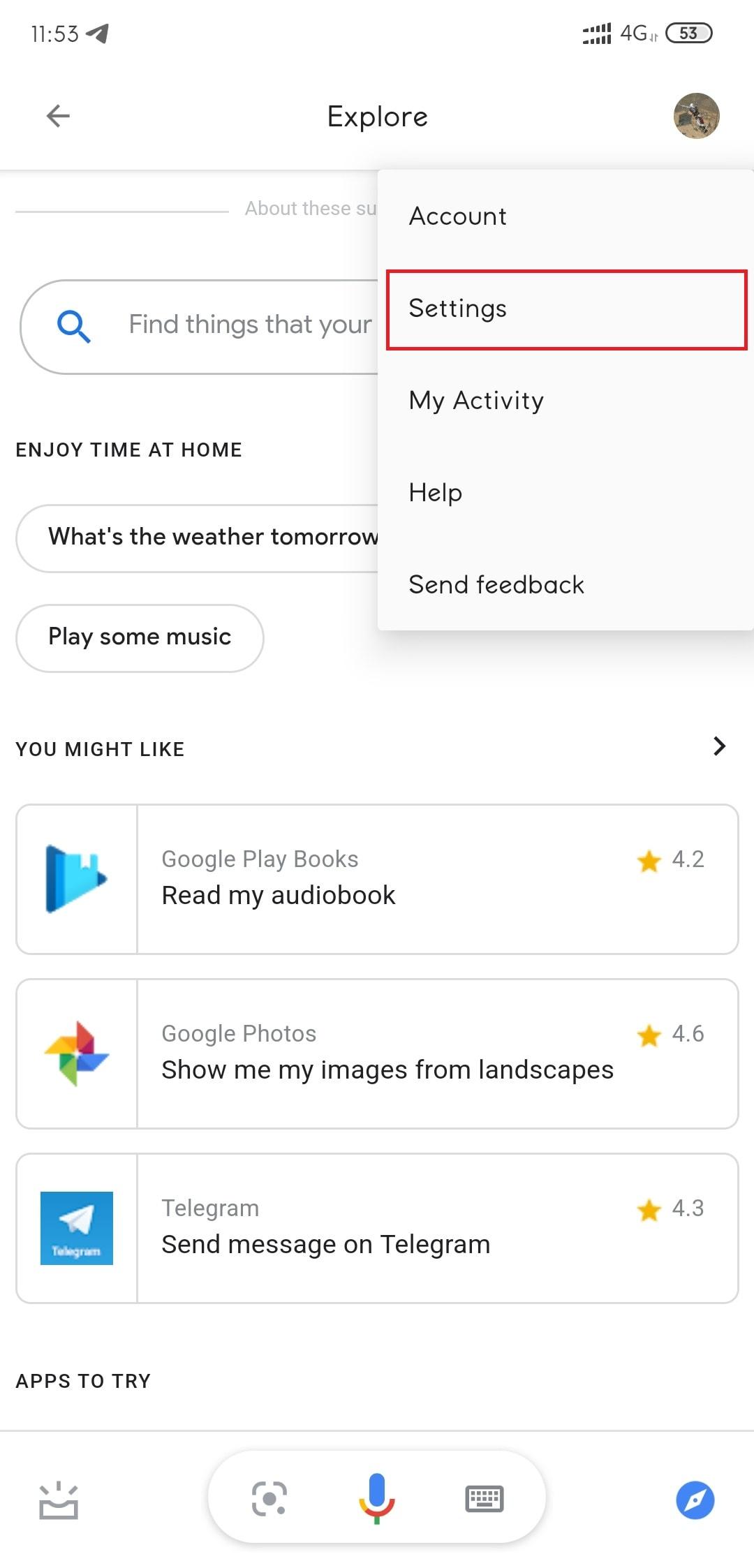Profile Option Settings option