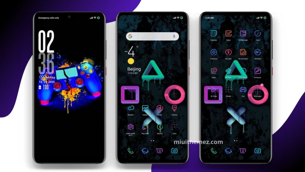 Black Game MIUI Theme Screens 1024x578