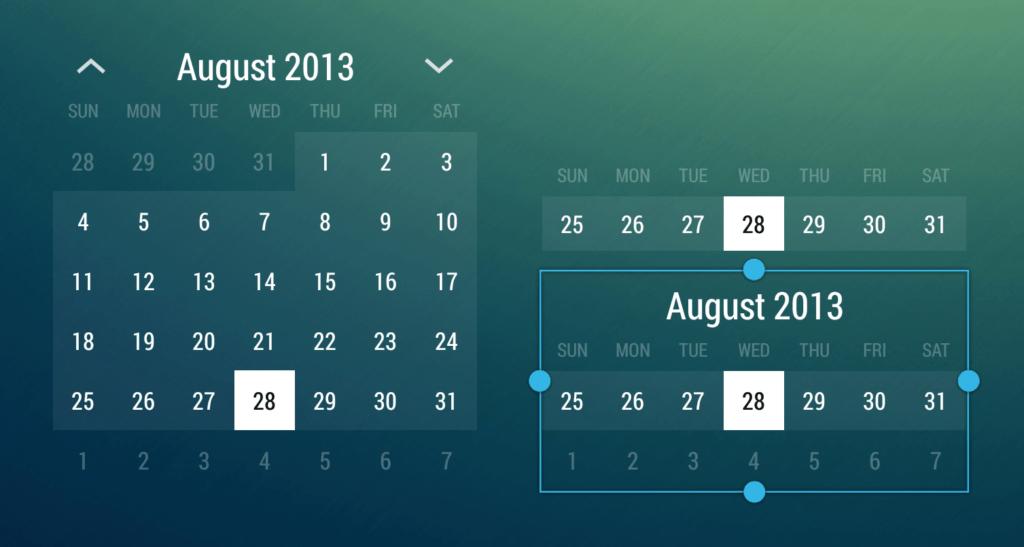 Calendar Widget Month 1024x547