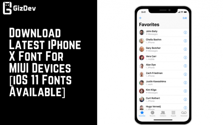 download latest iphone x font for miui devices  ios 11