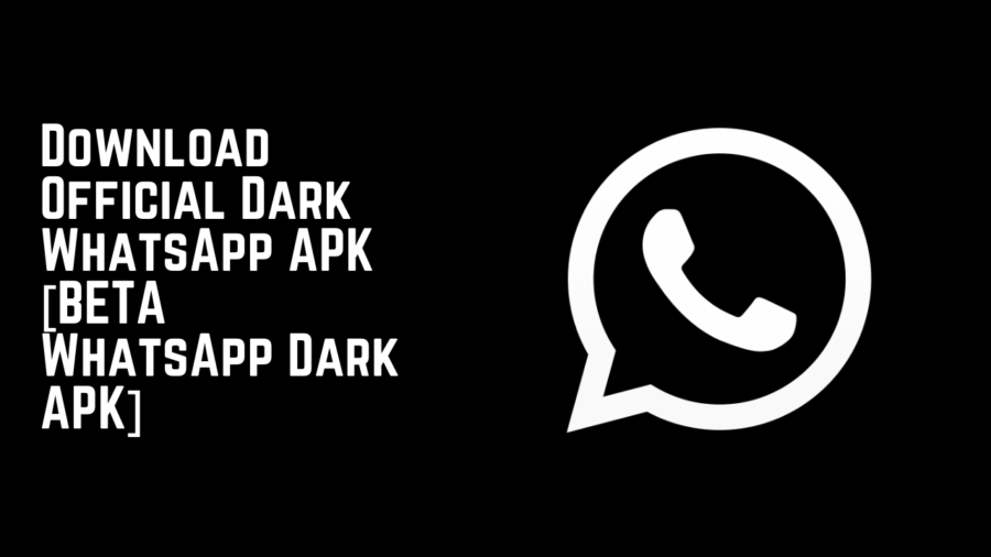 Download Official Dark WhatsApp APK [BETA WhatsApp Dark APK]