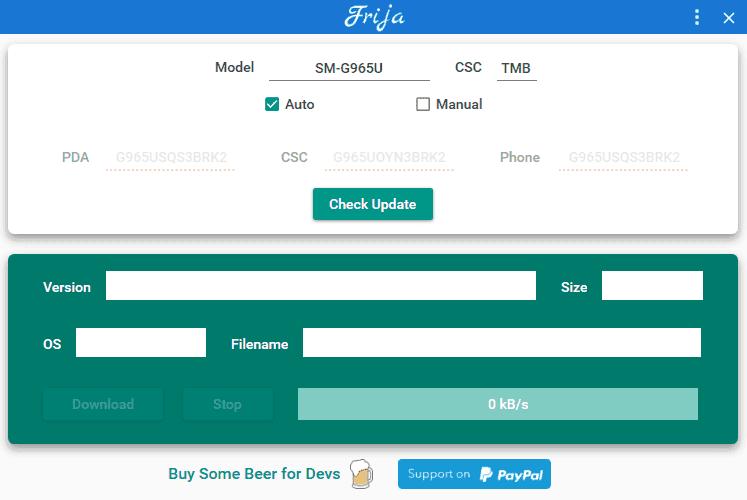 Frija Firmware Downloader