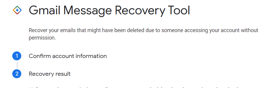 Gmail Email Recovery Screens 1