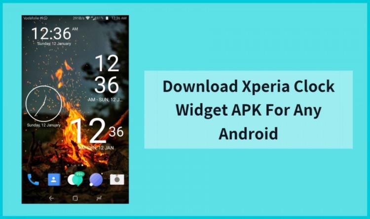 Xperia Clock Widget Apk