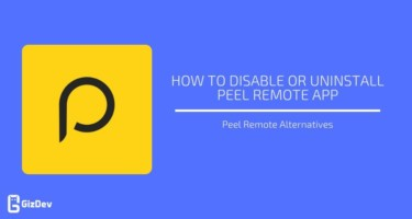 Disable or Uninstall Peel Remote App