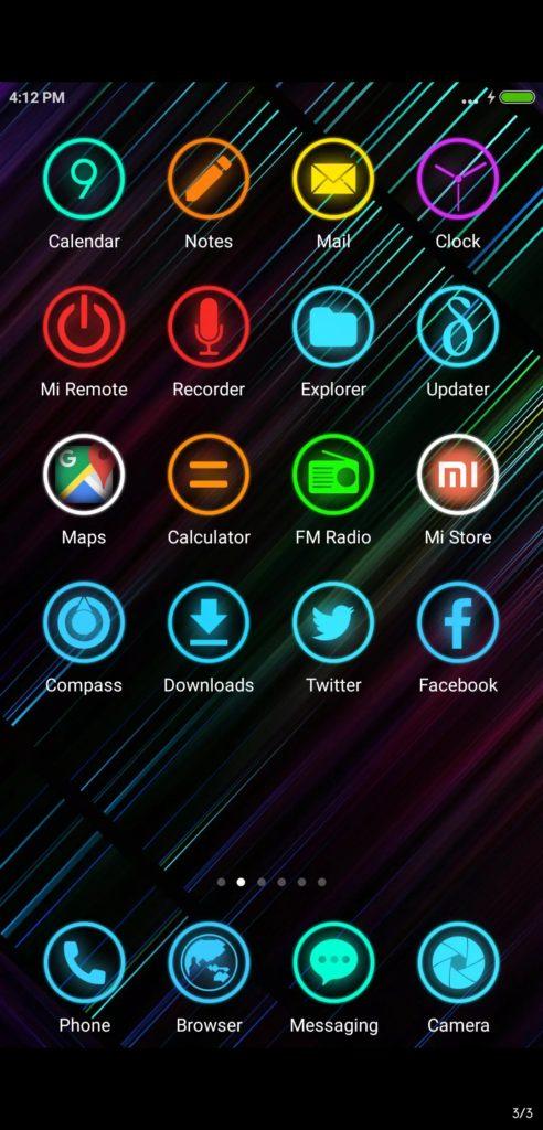 Neon 999 MIUI Theme Screens 1 492x1024