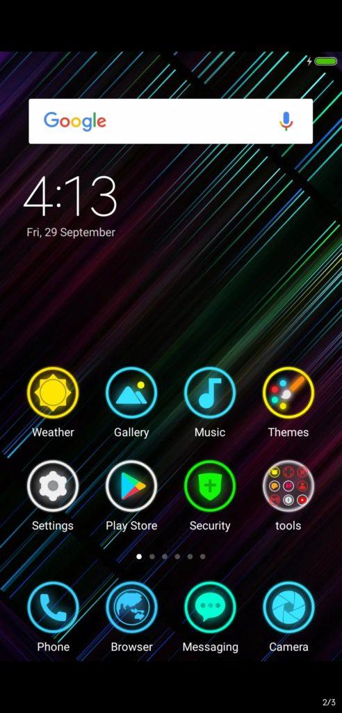 Neon 999 MIUI Theme Screens 3 492x1024