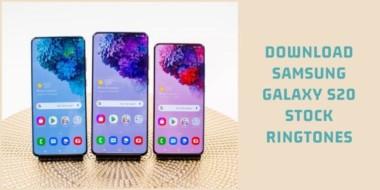 Samsung Galaxy S20 Stock Ringtones