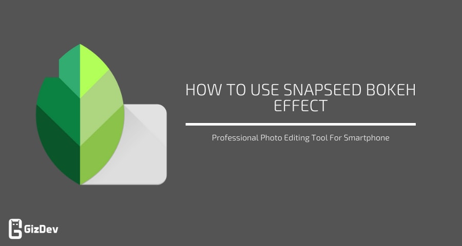 Snapseed Bokeh Effect